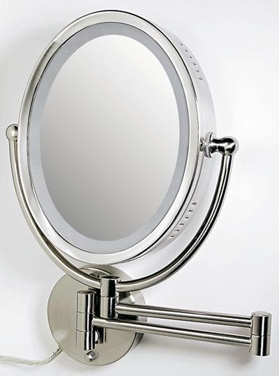 Circular Wall Mounted Shaving Mirror 225mm Spiderman Lamp